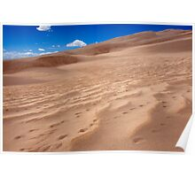 Sand Patterns - Great Sand Dunes, Colorado Poster