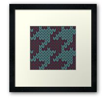 Faux Knit Houndstooth Framed Print