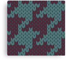 Faux Knit Houndstooth Canvas Print
