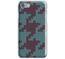 Faux Knit Houndstooth iPhone Case/Skin