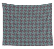 Faux Knit Houndstooth Wall Tapestry