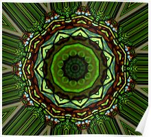 Tiffany Stained Glass Kaleidoscope. Poster