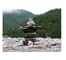 Atlantic Inukshuk, Cape Breton National Park.  Photographic Print