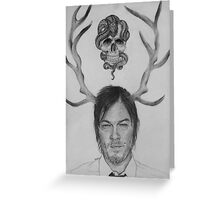 Norman Reedus , Daryl Dixon / TWD Greeting Card