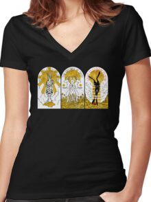 WATERSHIP DOWN TRIPTYCH Women's Fitted V-Neck T-Shirt