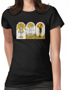 WATERSHIP DOWN TRIPTYCH Womens Fitted T-Shirt