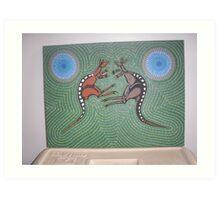 Fighting Kangaroos Art Print