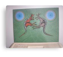Fighting Kangaroos Metal Print