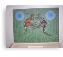 Fighting Kangaroos Canvas Print