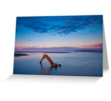 Sunset Glow at Low Tide Greeting Card
