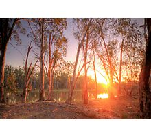 River Murray Sunset I - Renmark, South Australia Photographic Print