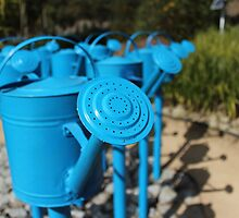 Blue Watering Cans by JoelCollins