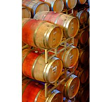 Aging Barrels, Sterling Winery, Napa Valley, California Photographic Print
