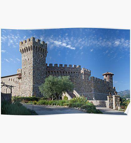 Castello di Amorosa, Napa Valley, California Poster