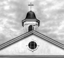 Church Steeple and Crosses - b&w by henuly1