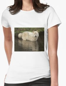 Autumn reflection Womens Fitted T-Shirt
