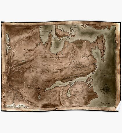 A Map of Known Thedas Poster