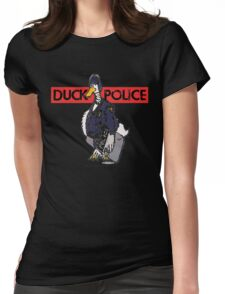 DUCK POLICE Womens Fitted T-Shirt