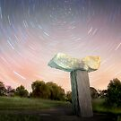 Statue Star Trails by Shannon Rogers