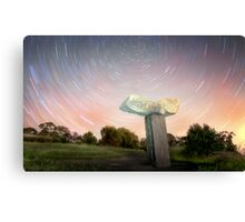 Statue Star Trails Canvas Print