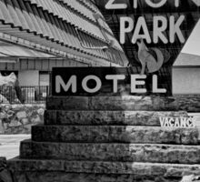 Zion Park Motel  Sticker