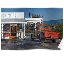 Roadside Diner, Sonoma, California Poster