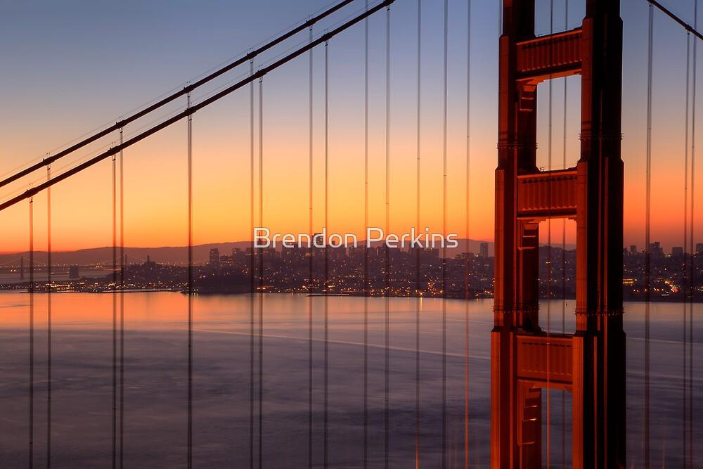 Morning Lights of San Francisco, California by Brendon Perkins