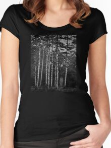 She Walks Alone Women's Fitted Scoop T-Shirt