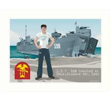Thomas Henderson and the L.S.T. 598 Art Print