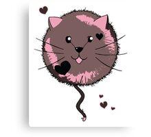 Kawaii Cat Ball Canvas Print