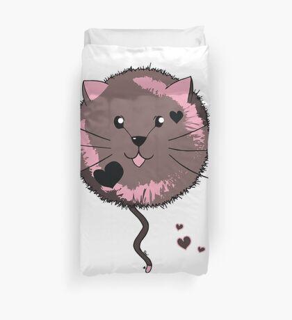 Kawaii Cat Ball Duvet Cover