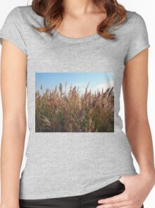 Reeds at the lake Women's Fitted Scoop T-Shirt