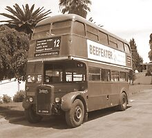 Old London bus ~ out of country! by Pieta Pieterse