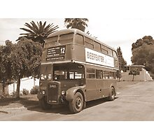 Old London bus ~ out of country! Photographic Print