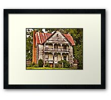 """ This is no Prefab Structure, Built the Old Fashioned Way""... prints and products Framed Print"