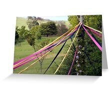 Maypole - Spring Picnic - Sue Dennis Greeting Card