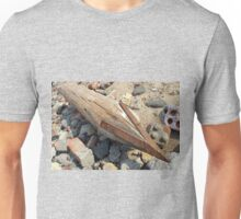 Wooden pole with an iron tip at a construction site Unisex T-Shirt