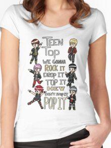 Teen Top- Rocking Women's Fitted Scoop T-Shirt