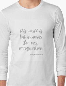 Henry David Thoreau Silver Paint Long Sleeve T-Shirt