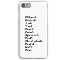 Doctor Who Classic Names List iPhone Case/Skin