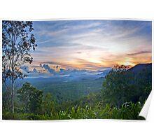 Sunrise from Hervey Range Poster