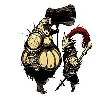 Ornstein & Smough - Dark Souls by coecho