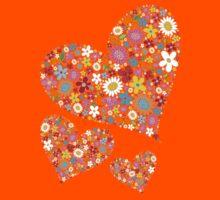 Spring Flowers Valentine Hearts Trio Kids Clothes