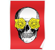 Skull & Roses | Red & Yellow Poster