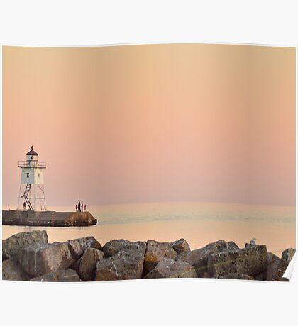 Sunset at Lake Superior North Shore Poster