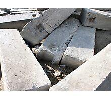 Large concrete building blocks closeup Photographic Print