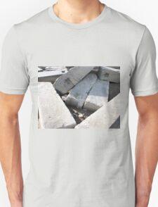 Large concrete building blocks closeup Unisex T-Shirt