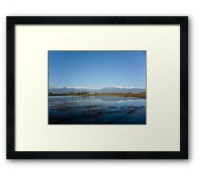 Mountains Behind The Lake Framed Print