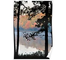 Misty Morning at the Park Poster