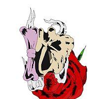 Ribbon Skull by antiseptik